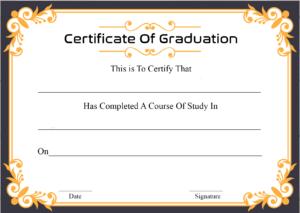 🥰free Certificate Template Of Graduation Download🥰 throughout Free Printable Graduation Certificate Templates