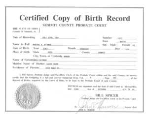 🥰free Printable Certificate Of Birth Sample Template🥰 in Novelty Birth Certificate Template