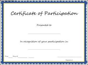 🥰free Printable Certificate Of Participation Templates (Cop)🥰 in Certificate Of Participation In Workshop Template