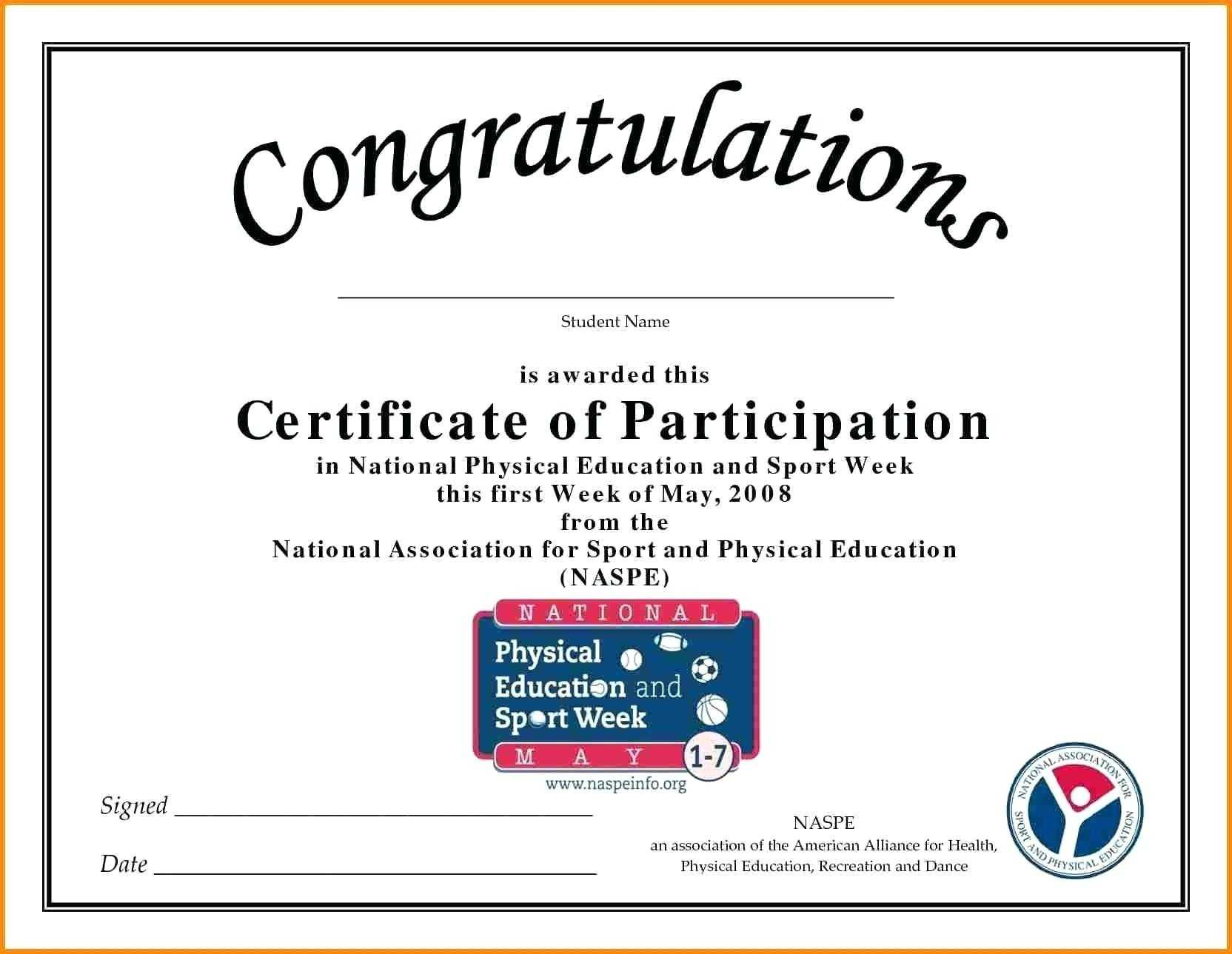 🥰free Printable Certificate Of Participation Templates (Cop)🥰 In Certification Of Participation Free Template