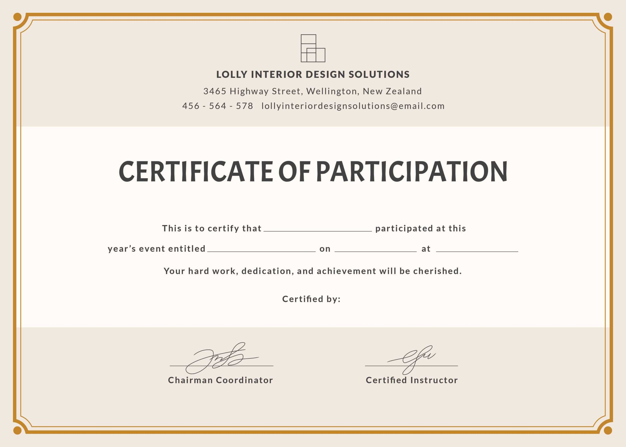 🥰free Printable Certificate Of Participation Templates (Cop)🥰 With Regard To Sample Certificate Of Participation Template