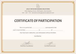 🥰free Printable Certificate Of Participation Templates (Cop)🥰 within Workshop Certificate Template