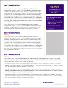 Fact Sheet | Uw Brand for Fact Card Template
