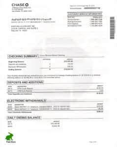 Fake Bank Statement | Buy And Create A Fake Bank Statement in Novelty Birth Certificate Template