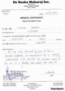 Fake Medical Certificate Philippines Medical Certificate in Free Fake Medical Certificate Template
