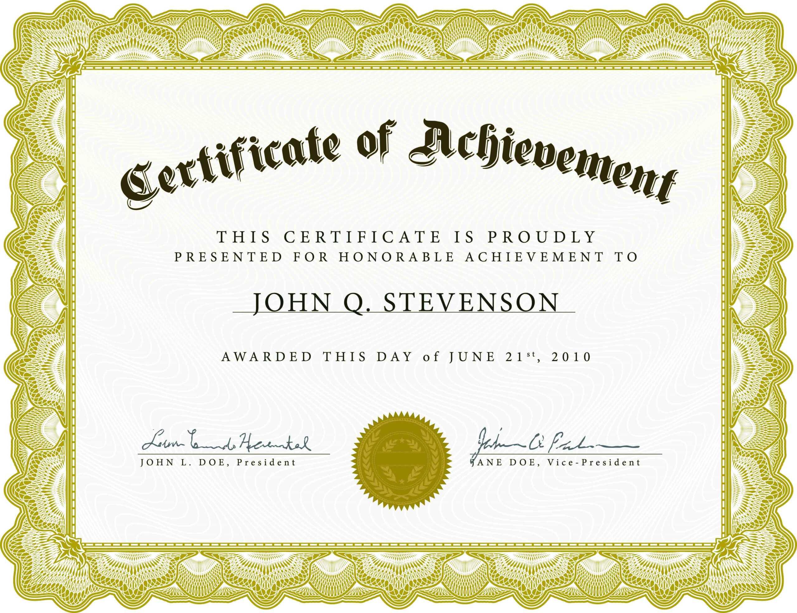 Farewell Certificate Template - Professional Template With Farewell Certificate Template