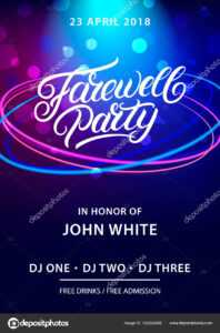 Farewell Party Hand Written Lettering. — Stock Vector throughout Farewell Invitation Card Template