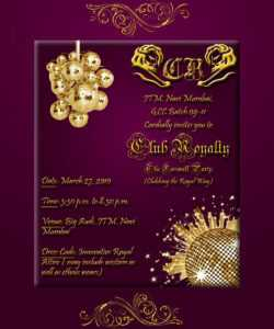 Farewell Party Invitation Card throughout Farewell Invitation Card Template