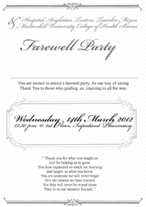 Farewell Party Invitation Cards within Farewell Invitation Card Template