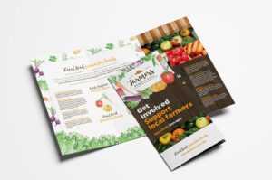 Farmers Market Tri-Fold Brochure Template In Psd, Ai for Nutrition Brochure Template
