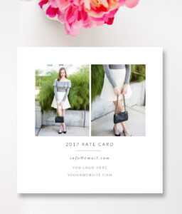 Fashion & Beauty Blogger Rate Card Template —Stephanie Design throughout Rate Card Template Word