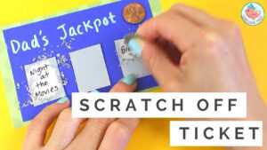 Father's Day Gift Card – How To Make Diy Scratch Off Card & Lottery Ticket  – Easy Paper Crafts throughout Scratch Off Card Templates