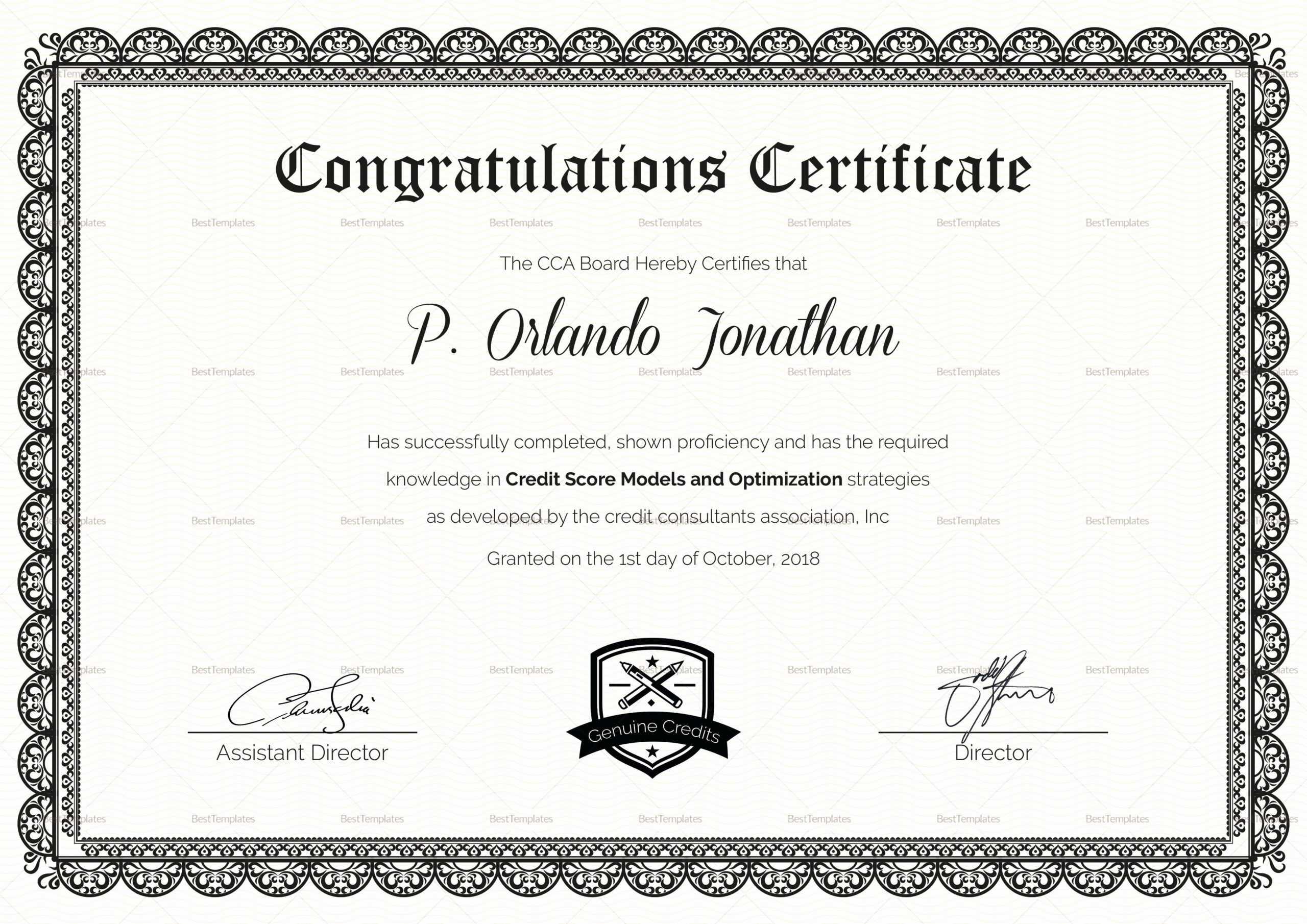 Fcd5C70 Congratulations Certificate Template | Wiring Resources Inside Congratulations Certificate Word Template