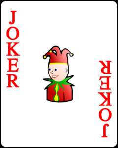 File:playing Card Red Joker.svg – Wikimedia Commons in Joker Card Template