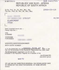 File:population Registration Certificate South Africa 1988 pertaining to South African Birth Certificate Template