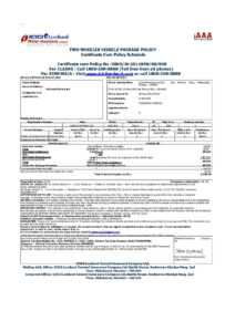 File:vehicle Insurance Certificate In India.pdf – Wikimedia in Fake Auto Insurance Card Template Download