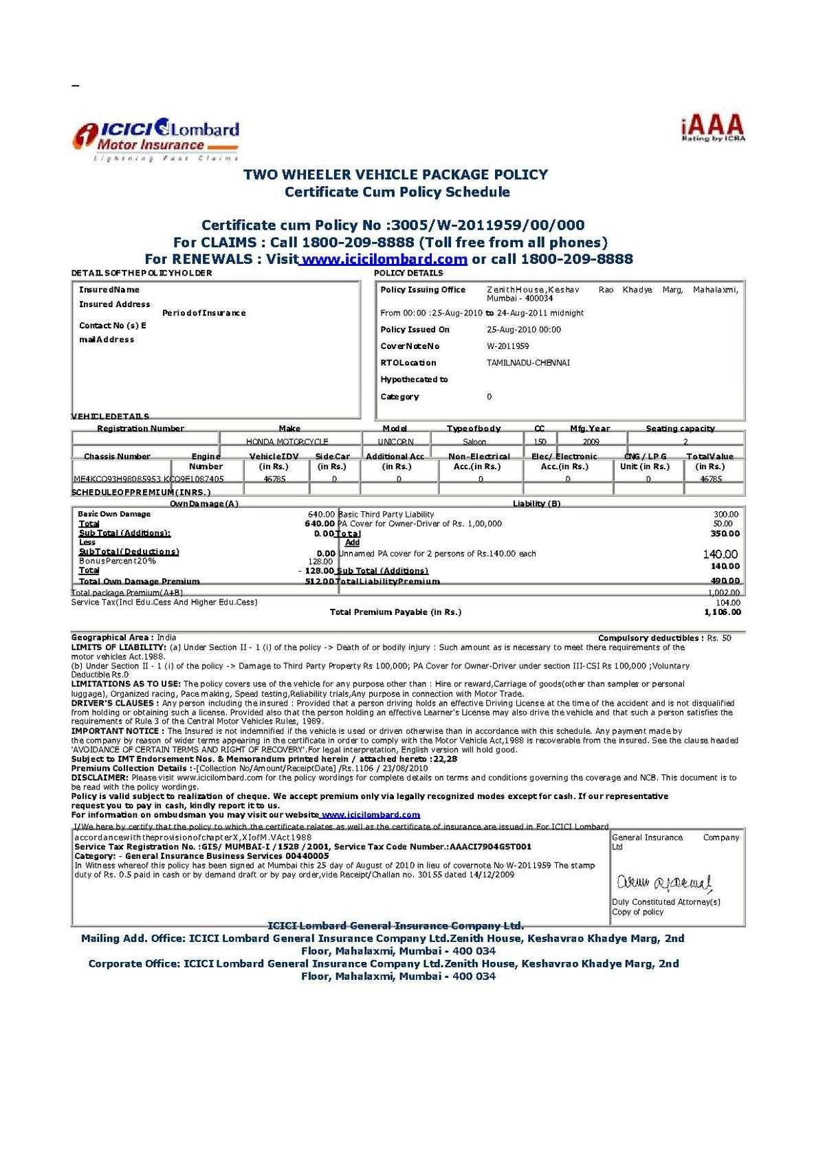 File:vehicle Insurance Certificate In India.pdf – Wikimedia Inside Free Fake Auto Insurance Card Template