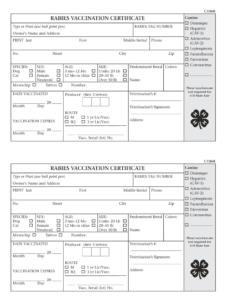 Fillable Rabies Certificate – Fill Online, Printable in Rabies Vaccine Certificate Template