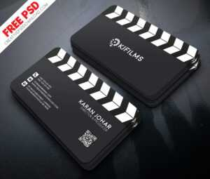 Film Clipper Free Business Card Psd intended for Visiting Card Psd Template Free Download