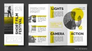 Film Festival Brochure Template - Vector Download throughout Film Festival Brochure Template