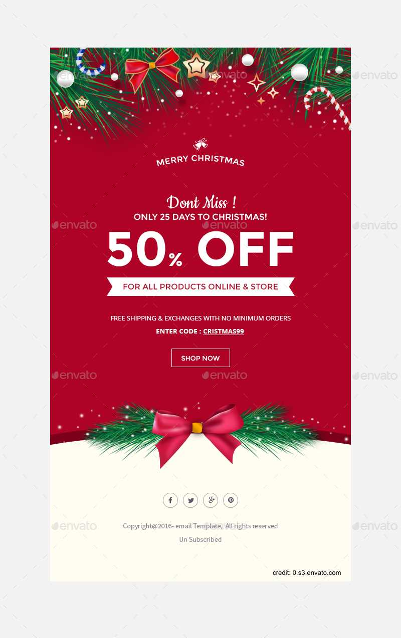 Finding The Right Holiday Greetings Email Template - Mailbird For Holiday Card Email Template