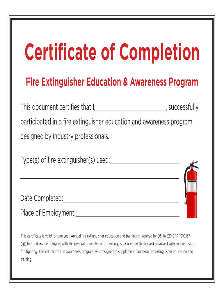 Fire Extinguisher Certificate Pdf - Fill Online, Printable For Fire Extinguisher Certificate Template