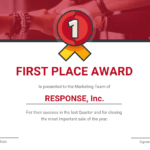 First Place Award Certificate Template Within Sample Award Certificates Templates