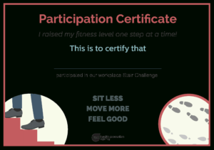 Fitness Participation Certificate | Templates At regarding Promotion Certificate Template