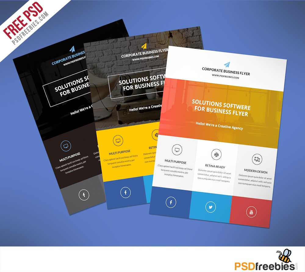 Flat Clean Corporate Business Flyer Free Psd | Psdfreebies In Cleaning Brochure Templates Free
