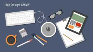Flat Design Office Powerpoint Templates regarding Microsoft Office Powerpoint Background Templates