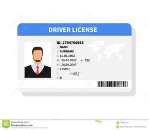 Flat Man Driver License Plastic Card Template with regard to Personal Identification Card Template