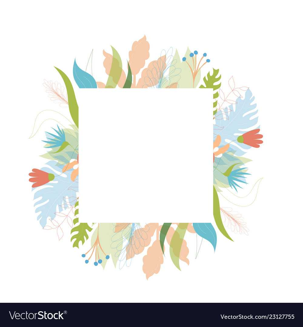 Floral Greeting Card Template Intended For Free Printable Blank Greeting Card Templates