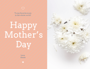 Floral Happy Mother's Day Card Template in Mothers Day Card Templates