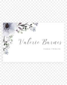 Floral Wedding Invitation Background Png Download – 1200 in Table Place Card Template Free Download