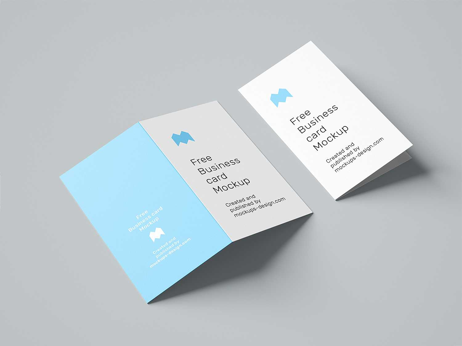 Folded Business Card Free Mockup | Free Mockup Regarding Fold Over Business Card Template