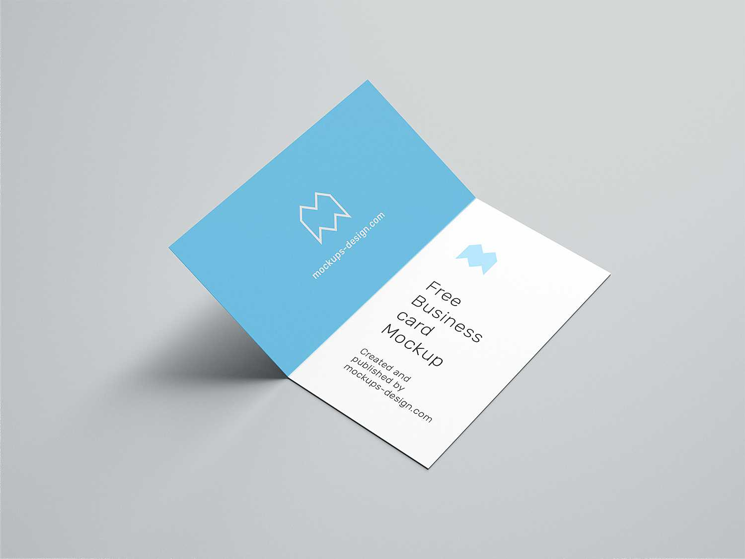 Folded Business Card Free Mockup | Free Mockup Throughout Fold Over Business Card Template
