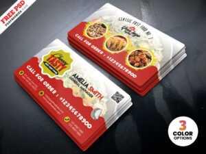 Food Restaurant Business Card Psd Template   Psdfreebies throughout Food Business Cards Templates Free