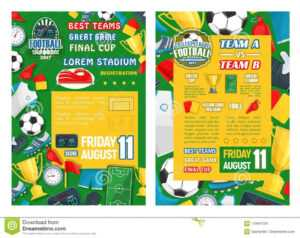 Football Or Soccer Sport Tournament Match Banner Stock within Football Referee Game Card Template