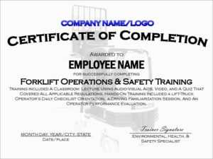 Forklift License Template Download – Oflu.bntl intended for Forklift Certification Card Template