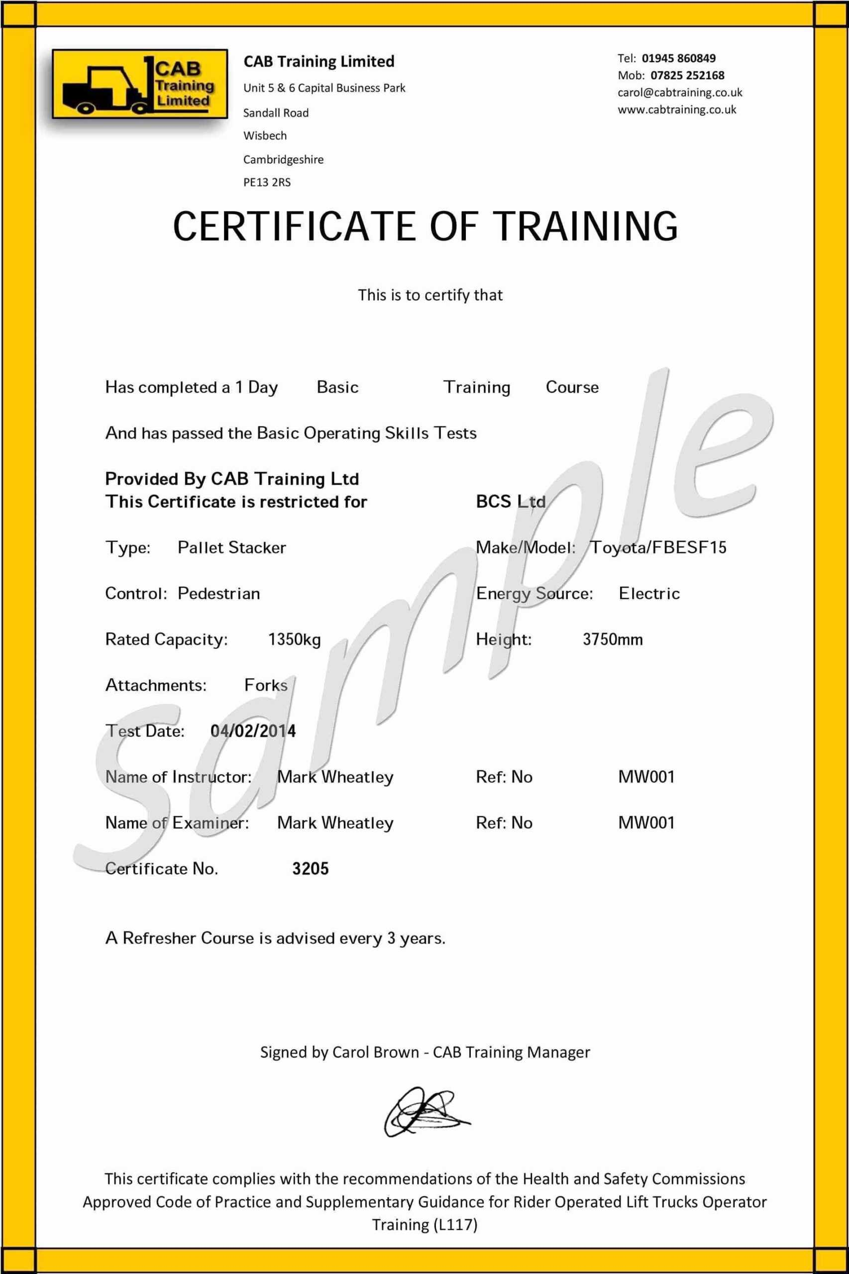 Forklift Operator Card Template - Carlynstudio Within Forklift Certification Card Template