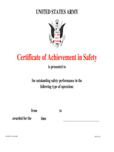 Form 1119 – Fill Out And Sign Printable Pdf Template | Signnow throughout Certificate Of Achievement Army Template