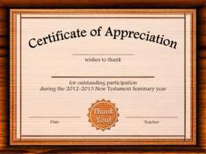 Formal Certificate Of Appreciation Template For The Best with regard to Certificate Templates For Word Free Downloads