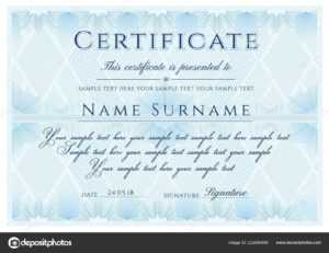 Formal Certificate Template | Certificate Template Formal intended for Formal Certificate Of Appreciation Template