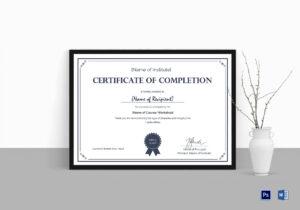 Formal Completion Certificate Template regarding Mock Certificate Template