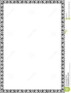 Frame Blank Template For A Certificate Stock Illustration pertaining to Certificate Of License Template