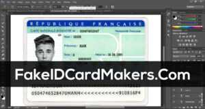 France Id Card Template Psd [Fake Driver License] inside French Id Card Template