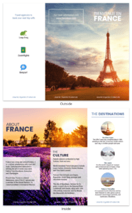 France Travel Tri Fold Brochure with regard to Travel Brochure Template For Students