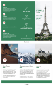 France Tri Fold Travel Brochure throughout Travel Brochure Template For Students
