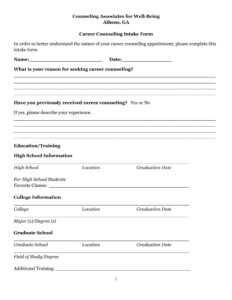 Free 21+ Counseling Intake Forms In Pdf | Ms Word intended for Premarital Counseling Certificate Of Completion Template