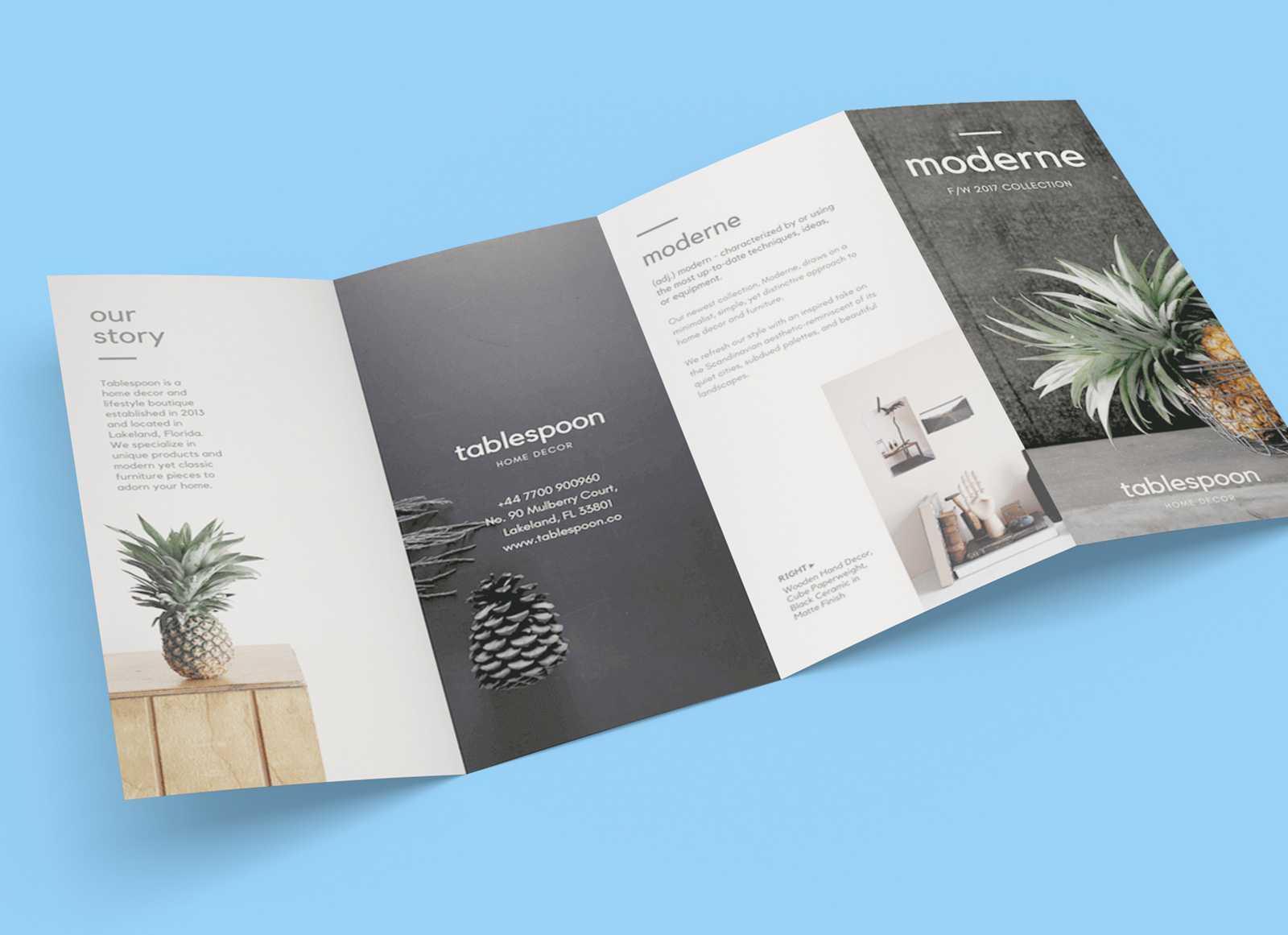 Free 4 Panel Quad Fold Brochure Mockup Psd - Good Mockups For Brochure 4 Fold Template